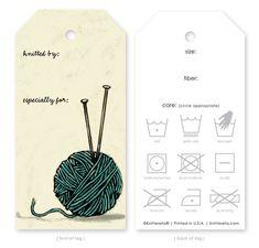 Knitterella... Gift tags