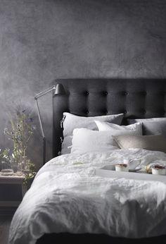 Classic Home Decor .Classic Home Decor Dark Bedroom Walls, Ikea Bedroom, Bedroom Inspo, Grey Walls, Home Bedroom, Room Decor Bedroom, Modern Bedroom, Bedroom Furniture, Dark Bedrooms
