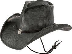 7fac2eb5f45 Shady Brady Concho Pinchfront Black Straw Cowgirl Hat Cowgirl Western Wear
