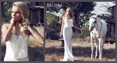 Spaghetti strap blouson gown by Riki Dalal, #1301