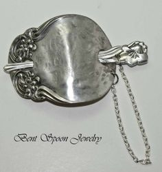 Shawl Pin Spoon Jewelry Vintage Recycled by Bentspoonjewelry, $36.00