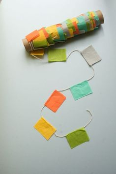 Easy bunting & great storage idea.  Good idea for a birthday in a box.