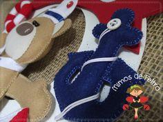 Mimos de Feltro by Angela Mary: => Ursinho marinheiro {Enfeite de porta e móbiles}