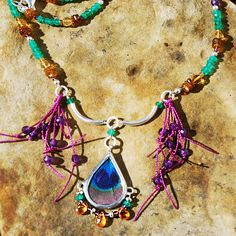 Tourmaline, Apatite, Citrine, Spessartite Garnet and Amethyst Feather Jewelry, Garnet, Peacock, Amethyst, Wings, Butterfly, Charmed, Bracelets, How To Make