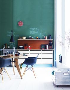 Oooooh... chalk board for writing in the kitchen!! Perhaps recipes, perhaps love notes, perhaps labels for placing treasures away in just the right spot <3