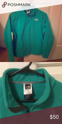 Turquoise girls size XL(18) fleece Super warm fleece in GREAT condition! North Face Jackets & Coats