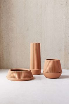 Slide View: 3: Umbra Shift Pleated Planter + Drainage Tray Set