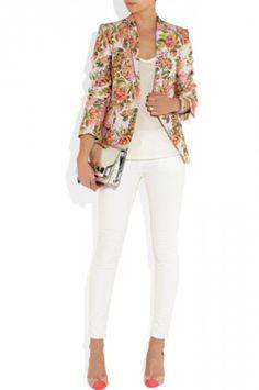 Stella McCartney: Neon Floral Jacquard Jacket