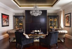 Coolest Black And Gold Living Room Decor 50 About Remodel Small gold dining room decor - Dining Room Decor London Living Room, Living Room Interior, Living Room Furniture, Living Room Decor, Dining Room, Decor Room, Living Area, Room London, Dining Decor