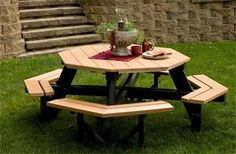 Amish Poly Wood Octagon Picnic Table