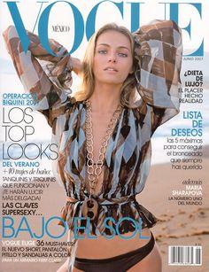 Valentina Zelyaeva by Stephan Wurth Vogue Mexico June 2007 Vogue Magazine Covers, Fashion Magazine Cover, Fashion Cover, Vogue Covers, High Fashion Photography, Glamour Photography, Lifestyle Photography, Editorial Photography, Lifestyle Blog