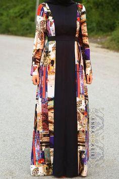 www annahariri com kami dress maxi dress hijab wear - The world's most private search engine Abaya Fashion, Modest Fashion, Fashion Outfits, Muslim Women Fashion, Islamic Fashion, Ladies Fashion, Hijab Wear, Hijab Dress, Mode Abaya