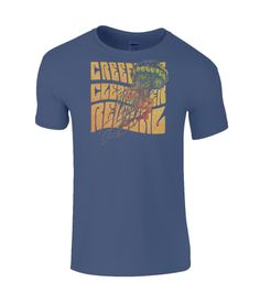 Creedence Clearwater Revival Limited Edition T-Shirt CCR Woodstock 1969 Creedence Clearwater Revival, Find Music, Rock Tees, Woodstock, Mens Tees, Sleeves, Cotton, T Shirt, How To Wear