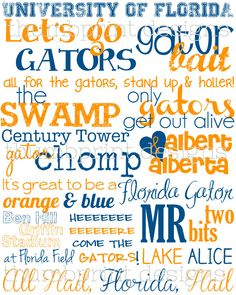 university of florida subway art 8 x 10 by ThumbprintDesign