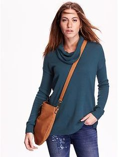 Women's Cowl-Neck Tunic Sweater | Old Navy