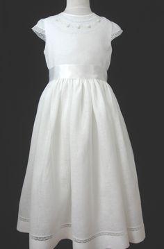 Linen First Communion Dress - Colleen. Etsy.