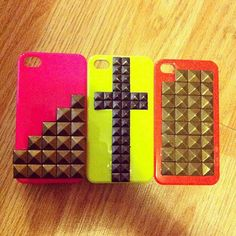 Studded Neon Iphone 4 cases :)