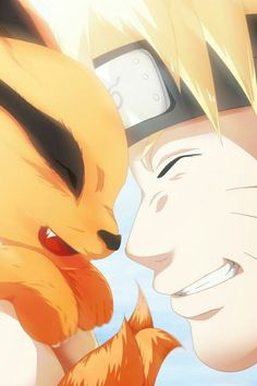 Naruto and Kurama ,so cute #Naruto #Kurama #cosplayclass