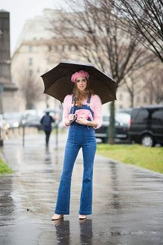 Pink in the rain: fourth look of PFW FW16 | The Blonde Salad