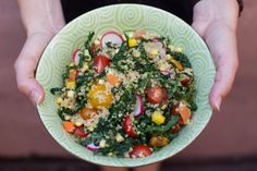 Quinoa Salad with Kale and Corn