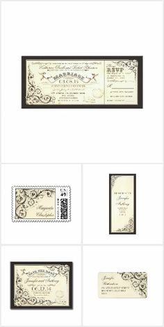 Charming Vintage Wedding Tickets Collection