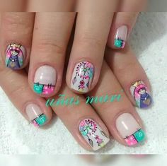 Manicure And Pedicure, Nail Designs, Nail Art, Drawing, Nails, Ideas, Tribal Nails, Unicorn Nails, Love Nails