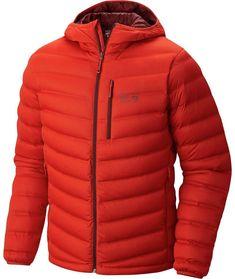 Mountain Hardwear Men's StretchDown Down Jacket Dark Fire XL Sweater Jacket, Hooded Jacket, Jacket Men, Mens Hiking Jacket, Mens Outdoor Jackets, Mountain Hardwear Jacket, Duck Down Jacket, Mens Clothing Styles, Sport Wear