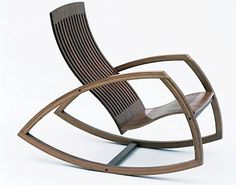 Gorgeous handcrafted modern rocking chair by magpie590 on Etsy, $900.00
