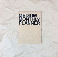 Image of MEDIUM MONTHLY PLANNER
