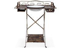 Vintage Brown Washbasin Stand OneKingsLane.com