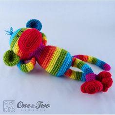 Rainbow Sock Monkey Amigurumi Crochet Pattern