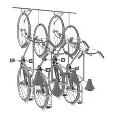 Bij deze gelaste ophangrail wordt de fiets aan de muur of plafond gestald in plaats van op de grond. Door de rail met een aantal haken te bevestigen aan de wand of aan het plafond kan de fiets opgehangen worden om te parkeren. Een praktische, budgetvriendelijke en ruimtebesparende fietsparkeer oplossing. Chandelier, Ceiling Lights, Compact, Home Decor, Ceiling, Galvanized Steel, Space Saving, Bicycle, Candelabra