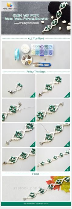 PandaHall Elite Craft Tutorial: How to DIY pearl bracelet with PandaHall Elite pearl beads