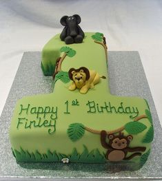 Jungle Birthday Cakes | Recent Photos The Commons Getty Collection Galleries World Map App ...