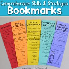 Included are 24 reading comprehension bookmarks for both reading skills and reading strategies. These reading comprehension bookmarks will help your students practice all the good reading strategies and skills they've learned all year long. Use these reading bookmarks as references or to keep track of how to respond to text.