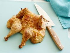 Roast Chicken : If you can cook chicken nuggets, you can roast a spatchcocked Cornish hen on your toaster tray. Eat it at your desk, to the envy of your cubicle neighbors. via Food Network Chicken Meal Prep, How To Cook Chicken, Chicken Recipes, Spatchcock Chicken, Roast Chicken, Easy Meal Prep, Easy Meals, Toaster Oven Recipes, Parmesan Roasted Cauliflower
