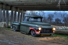 """Hot Rod Jim's 1957 Chevy Pick-Up """"PT-57 Shark"""" 6.0 Bi-Turbo competed in the 2009. #OUSCI"""