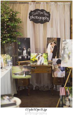 Southern Pines Wedding Photographer | Sandhills Wedding Expo | Photography Vendor Booth Setup