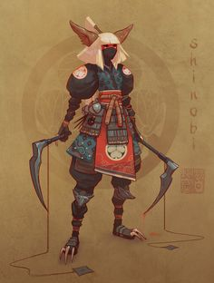 ArtStation - Servane Altermatt's submission on Feudal Japan: The Shogunate - Character Design