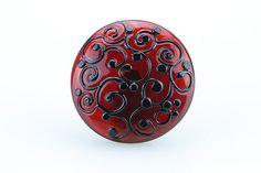 PURE - handmade lampwork glass cabochon topper by dora schubert - interchangeable glass topper