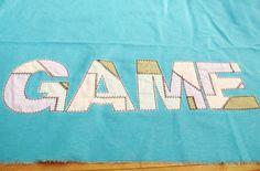 Iron Patchwork rag edges applique alphabet and...