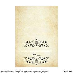 Escort Place Card | Vintage Flourish