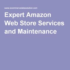 Expert Amazon Web Store Services and Maintenance The Amazon Web store is an ecommerce stage which engages online retailers to offer their items on both Amazon.com and their edit online store with a solitary stock framework.