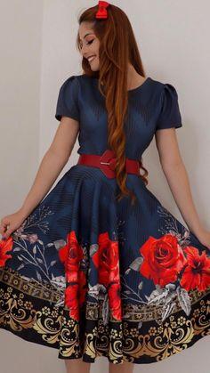 2a55fe76a #mustachestore #dress #vestido #estampa #lindo #rosas #flores #floral #moda  #modesta #paratudoqueelavaipassar #gospel #cristã #evangélica #rose  #pisamenos ...
