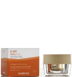 La crema contorno de ojos Sesderma de la gama C-Vit reduce las arrugas y los signos de fatiga como bolsas y ojeras. ¡Luce una mirada más luminosa!