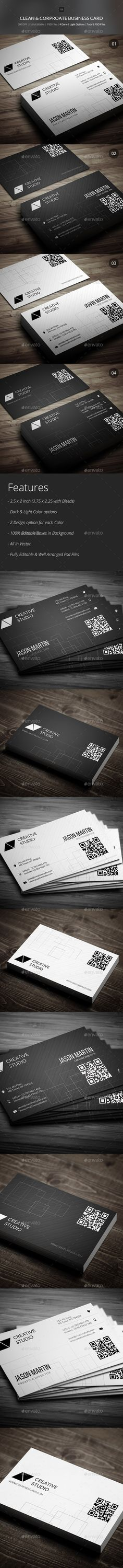 Clean & Corporate Business Cards - 04