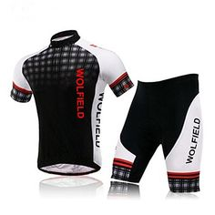 WOLFBIKE Men s Cycling Short Sleeve Jersey 2f6f51322