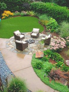 Garden Landscaping See more project details for Pacific Northwest Garden by Darwin Webb Landscape Architects, P. including photos, cost and more. Front Yard Landscaping, Backyard Patio, Landscaping Ideas, Backyard Ideas, Backyard Designs, Back Yard Landscape Ideas, Sloped Backyard, Firepit Ideas, Hillside Landscaping