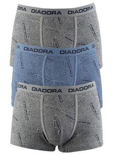 Smart Pack 3 Τεμαχίων. Μπόξερ από ελαστικό βαμβακερό ύφασμα και απαλό εξωτερικό λάστιχο με το Logo Diadora να κοσμεί το λάστιχο της μέσης.