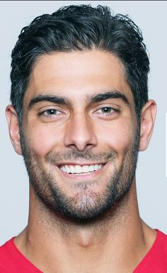 Jimmy Garoppolo. San Francisco  49ers quarterback. 49ers Quarterback, Scruffy Men, Gym Workout Tips, Lucas Black, Famous Men, Dream Team, American Football, My Man, Cute Guys